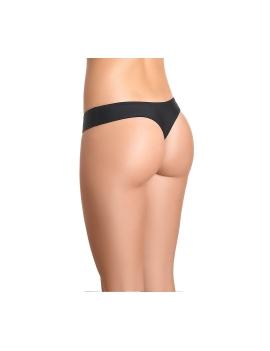 Parte trasera de calzon de bikini colalless color negro