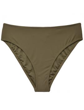 Calzon de bikini tiro alto color verde marca samia