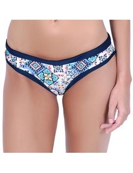 Calzon clasico de bikini estampado azul