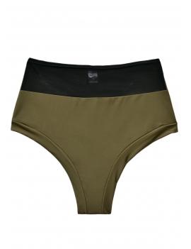 foto producto calzon de bikini pin up con transparencia verde
