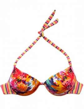 Bikini estilo sostén clásico estampado naranja