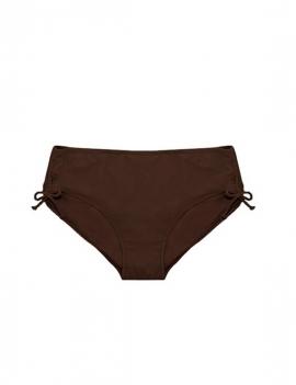 foto producto de calzon de bikini drapeado en los laterales y ajustable