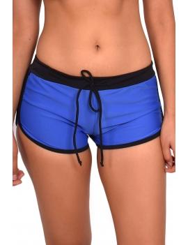 Bikini short hot pant color azul marca samia