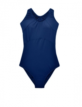 Traje de baño Deportivo para niña azul marino