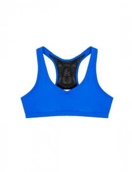 Peto deportivo con transparencia azul