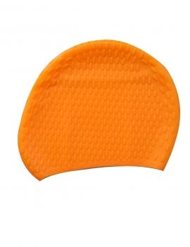 Gorro de goma para natación color naranja
