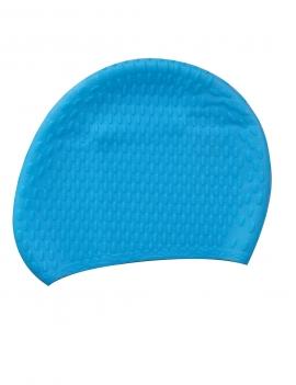 Gorro de goma para natación color azul