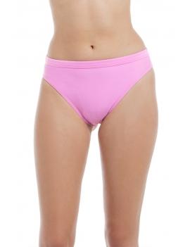 Bikini calzón alto con pretina morado